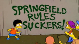 The Simpsons - what time is it on TV? Episode 24 Series 6 cast list ...: SPRINGFELD  RULES  SucKERS! The Simpsons - what time is it on TV? Episode 24 Series 6 cast list ...