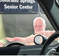 funny I saw a familiar face today on the side of a bus. Couldn't stop laughing.: Springs  Senior Center funny I saw a familiar face today on the side of a bus. Couldn't stop laughing.