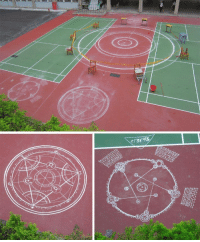 Target, Tumblr, and Blog: squadron-of-damned:  #who is doing alchemy on the tennis court again  what the hell do you mean again???