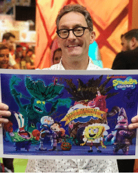 Boo, Halloween, and Memes: SQUAREPANTS Hey, it's Tom Kenny (aka SpongeBob) at our ComicCon booth! 🍍 Go to our YouTube channel for a NEW clip from SpongeBob's Halloween special, The Legend of Boo-kini Bottom 👻