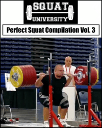"""Lifting big weight alone is NOT impressive. Lifting big weight with GREAT TECHNIQUE - now that's something to be admired.🙌🏼 . Here is a compilation of some amazing athletes with incredible squat technique. Learn from them 👇🏼 1️⃣Mart Seim (@martseim) 2️⃣David Coimbra (@professordavidcoimbra) 3️⃣Donovan Ford (@dford_105) 4️⃣Mohamed Ehab (@mohamed_ehab_youssef) 5️⃣Evan Rutledge (@girthbrooks6) . Tag someone YOU think should be in the next """"Perfect Squat Compilation"""" 👊🏻 . Big thank you to @atginsta for some of the footage of these amazing lifters.🙌🏼 ___________________________________ Squat University is the ultimate guide to realizing the strength to which the body is capable of. The information within these pages are provided to empower you to become a master of your physical body. Through these teachings you will find what is required in order to rid yourself of pain, decrease risk for injury, and improve your strength and athletic performance. ________________________________ Squat SquatUniversity Powerlifting weightlifting crossfit training wod workout gym exercisescience fit fitfam fitness fitspo oly olympicweightlifting hookgrip nike adidas lift: SQUAT  UNIVERSITY  Perfect Squat Compilation Vol. 3 Lifting big weight alone is NOT impressive. Lifting big weight with GREAT TECHNIQUE - now that's something to be admired.🙌🏼 . Here is a compilation of some amazing athletes with incredible squat technique. Learn from them 👇🏼 1️⃣Mart Seim (@martseim) 2️⃣David Coimbra (@professordavidcoimbra) 3️⃣Donovan Ford (@dford_105) 4️⃣Mohamed Ehab (@mohamed_ehab_youssef) 5️⃣Evan Rutledge (@girthbrooks6) . Tag someone YOU think should be in the next """"Perfect Squat Compilation"""" 👊🏻 . Big thank you to @atginsta for some of the footage of these amazing lifters.🙌🏼 ___________________________________ Squat University is the ultimate guide to realizing the strength to which the body is capable of. The information within these pages are provided to empower you to become a master of your phys"""