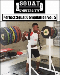 "Adidas, Being Alone, and Gym: SQUAT  UNIVERSITY  Perfect Squat Compilation Vol. 5  VAL Lifting big weight alone is NOT impressive - lifting big weight with GREAT TECHNIQUE, now that's something to be admired 🙌🏼 . Here's a compilation of some great athletes with incredible squat technique. Learn from them 👇🏼 . 1️⃣ Jeison Lopez (@jeison_lopez99) 2️⃣ Mark Wood (@teamstrongwood) 3️⃣ Jake Hartman (@jakexhartman) 4️⃣ Welisson Rosa da Silva (@welisson77) Tag someone below you think should be in the next ""Perfect Squat Compilation"" 👇🏼👇🏼 ___________________________________ Squat University is the ultimate guide to realizing the strength to which the body is capable of. The information within these pages are provided to empower you to become a master of your physical body. Through these teachings you will find what is required in order to rid yourself of pain, decrease risk for injury, and improve your strength and athletic performance. ________________________________ Squat SquatUniversity Powerlifting weightlifting crossfit training wod workout gym exercisescience fit fitfam fitness fitspo oly olympicweightlifting hookgrip nike adidas lift Crossfitter"