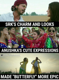 """""""Butterfly"""" song! 😍😍👌  #Raj*  Subscribe >> Troll Bollywood on YT: SRK'S CHARM AND LOOKS  ANUSHKA'S CUTE EXPRESSIONS  TROLL BOLLYWOOD  MADE """"BUTTERFLY"""" MORE EPIC """"Butterfly"""" song! 😍😍👌  #Raj*  Subscribe >> Troll Bollywood on YT"""