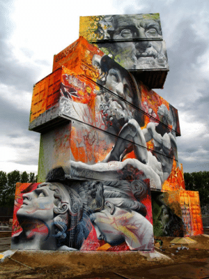 srsfunny:Awesome Graffiti Of Greek Gods On Containers: srsfunny:Awesome Graffiti Of Greek Gods On Containers