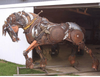Tumblr, Blog, and Http: srsfunny:  Epic Scrap Metal Stallion