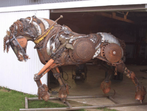 Tumblr, Blog, and Http: srsfunny:Epic Scrap Metal Stallion