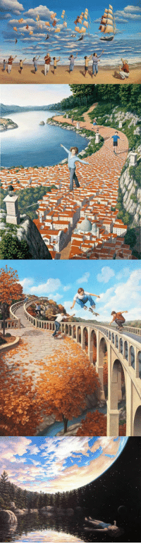 Paintings, Tumblr, and Blog: srsfunny:Mind Bending Optical Illusion Paintings by Rob Gonsalves