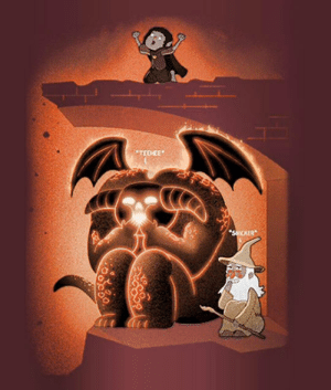 Gandalf, Tumblr, and Blog: srsfunny:What Really Happened After Gandalf Fell From The Bridge