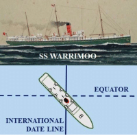 "Target, Tumblr, and Winter: SS WARRIMOO  EQUATOR  INTERNATIONAL  DATE LINE rhube:  rockyp77:    GREAT SEA STORY The passenger steamer SS Warrimoo was quietly knifing its way through the waters of the mid-Pacific on its way from Vancouver to Australia. The navigator had just finished working out a star fix and brought Captain John DS. Phillips, the result. The Warrimoo's position was LAT 0º 31' N and LONG 179 30' W. The date was 31 December 1899. ""Know what this means?"" First Mate Payton broke in, ""We're only a few miles from the intersection of the Equator and the International Date Line"". Captain Phillips was prankish enough to take full advantage of the opportunity for achieving the navigational freak of a lifetime.   He called his navigators to the bridge to check  double check the ship's position. He changed course slightly so as to bear directly on his mark. Then he adjusted the engine speed.  The calm weather  clear night worked in his favor. At mid-night the SS Warrimoo lay on the Equator at exactly the point where it crossed the International Date Line! The consequences of this bizarre position were many:   The forward part (bow) of the ship was in the Southern Hemisphere  in the middle of summer.   The rear (stern) was in the Northern Hemisphere  in the middle of winter.   The date in the aft part of the ship was 31 December 1899.  In the bow (forward) part it was 1 January 1900.    This ship was therefore not only in:   Two different days,    Two different months,    Two different years,    Two different seasons    But in two different centuries - all at the same time!  What an absolute ledge."