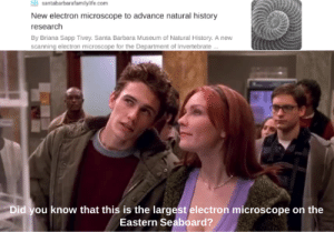 Making a meme of every quote from Spider-Man: Day 115 (Hey boys, girls, and Apache Attack Helicopters! I don't have internet for the next 2 days so I'm posting this meme in advance!): Ssantabarbarafamilylife.com  New electron microscope to advance natural history  research  By Briana Sapp Tivey. Santa Barbara Museum of Natural History. A new  scanning electron microscope for the Department of Invertebrate..  Did you know that this is the largest electron microscope on the  Eastern Seaboard? Making a meme of every quote from Spider-Man: Day 115 (Hey boys, girls, and Apache Attack Helicopters! I don't have internet for the next 2 days so I'm posting this meme in advance!)
