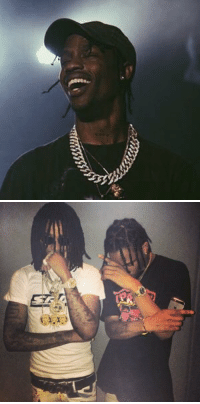 Quavo, Travis Scott, and Travis: ssssssswan   LER Travis Scott is dropping 2 albums this year, ASTROWORLD (solo album) and Collab album with Quavo https://t.co/OhIy8KqW5L