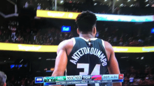 Drake, Finals, and Sports: ST  103 103 TO  MIL  SN  2OT 4:24  14  EASTERN CONFERENCE FINALS-GAME 3 (MIL LEADS 2-0) Drake showing Giannis how many games the Bucks are going to win the series in https://t.co/kXkJveSSki