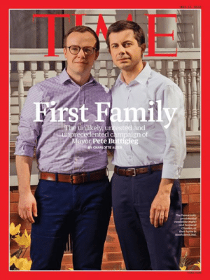 Pete Buttigieg for President.: st Family  unlikely, untested and  ayor Pete Buttigieg  recedented campaign of  CHARLOTTE A  ER  and hhusbund Pete Buttigieg for President.