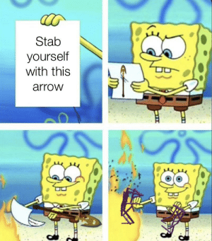 Stab Yourself With This Arrow Imagine Getting A Stand Like Hermit Purple Arrow Meme On Me Me Check out our stand arrow selection for the very best in unique or custom, handmade pieces from did you scroll all this way to get facts about stand arrow? stab yourself with this arrow imagine