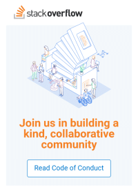 This joke wrote itself: stackoverflow  Join us in building a  kind, collaborative  community  Read Code of Conduct This joke wrote itself