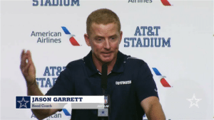 """Look...I clapped and I clapped, but it just wasn't working again this week"" https://t.co/gU0w1v519E: STADTIOM  АT&T  STADIUM  American  Airlines  AT&  TAF  COWBOYS  JASON GARRETT  Head Coach  PUFLN  an ""Look...I clapped and I clapped, but it just wasn't working again this week"" https://t.co/gU0w1v519E"