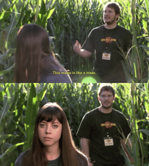runningoncoals:  I am literally both of them at the same time : STAFF  This maize is like a maze runningoncoals:  I am literally both of them at the same time