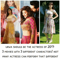 STAGRAH  URWA SHOULD BE THE ACTRESs oF 201t  3 MoVIES WITH 3 DIFFERENT CHARACTERS! NOT  MANY ACTRESS CAN PERFORM THAT DIFFERENT * i hope she does some dramas tooo lollywood pakistani actress confession urwahocane rangreza punjabnahijaungi namaloomafraad2 🕊
