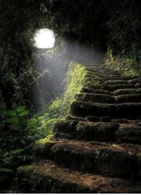 Stairway to Heaven, the ancient Inca Trail leading to Machu Picchu in Peru.: Stairway to Heaven, the ancient Inca Trail leading to Machu Picchu in Peru.