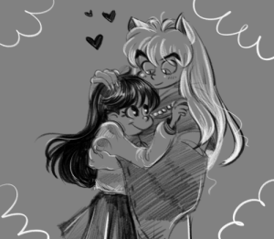 Cute, Saw, and Target: stalenobodykid:Quick doodle of affectionate inukag! I saw some cute fan art today and couldn't help myself.