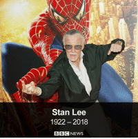 "Brains, Disney, and Life: Stan Lee  1922- 2018  BBCNEWS Marvel Comics legend Stan Lee – the brains behind Spider-Man, Black Panther, X-Men and many others – has died aged 95. He was a ""super hero in his own right"", according to Bob Iger, chair of the Walt Disney Company which snapped up Marvel Comics for a cool £4bn back in 2009. He was born in 1922 to working-class Jewish immigrants from Romania – tap the link in our bio to find out more about his fascinating life. superheroes stanlee marvel comics spiderman xmen blackpanther bbcnews"