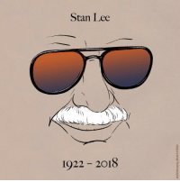 Memes, Stan, and Stan Lee: Stan Lee  LLS  1922 2018 Goodbye True Believer. . . . . . ripstanlee marvelcomics truebeliever nuffsaid excelsior 🎨 @maritsapatrinos