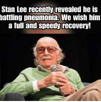 Memes, Soon..., and Stan: Stan Lee recently revealed he is  battling pneumonia. We wish him  a full and speedy recovery. Get well soon!! (Robert Gabel Jr) Astronomicon!