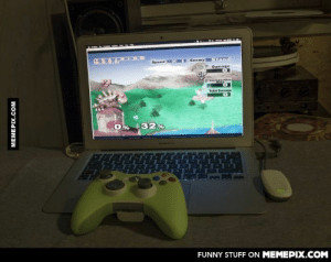 This feels wrong on so many levels. Playing SSBM for GameCube on a Macbook with a Xbox 360 controller.omg-humor.tumblr.com: Stand  Enemy  Speed  Damage  ConpRsutive  Total Damage  32%  FUNNY STUFF ON MEMEPIX.COM  MEMEPIX.COM This feels wrong on so many levels. Playing SSBM for GameCube on a Macbook with a Xbox 360 controller.omg-humor.tumblr.com