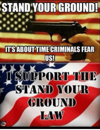 Memes, Fear, and 🤖: STAND YOURGROUND!  ITSABOUT TIME CRIMINALS FEAR  US!  I SUPPORT  STAND YOUR  GROUND