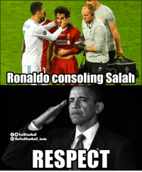 Football, Memes, and Respect: Standard  Chartere  Ronaldo consoling Salah  OTrollFootball  TheTrollFootball Insta  RESPECT This is what football is all about 👏 https://t.co/cJ3nvY8wQA