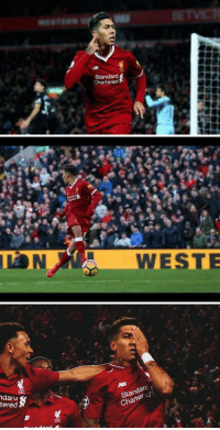 Firmino is the first player in history to score with:  Both eyes No eyes One eye https://t.co/kTARgqkrJ4: Standard  Chartered   daru  tered  Standar  Chartered Firmino is the first player in history to score with:  Both eyes No eyes One eye https://t.co/kTARgqkrJ4