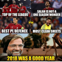 Good Christmas for Liverpool fans 🎁: Standard  Chartered  sandard  Crartered  TOP OF THELEAGUE  SALAH IS NOT A  ONE SEASON WONDER  TB  BEST PL DEFENCE  MOST CLEAN SHEETS  2018 WAS A COOD YEAR Good Christmas for Liverpool fans 🎁