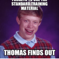STANDARDTRAINING  MATERIAL  THOMAS FINDS:OUT