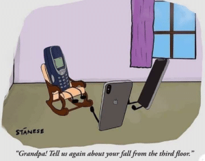 """Fall, Grandpa, and Apps: STANESE  """"  Grandpa! Tell us again about your fall from the third floor  """" A long long time ago, in a galaxy far before Apps"""