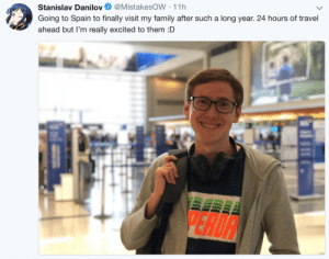 Family, Tumblr, and Blog: Stanislav Danilov@MistakesOW 11h  Going to Spain to finally visit my family after such a long year. 24 hours of travel  ahead but I'm really excited to them :D delfyi: Safe Trip Mistakes :D