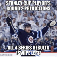 Here are my 100% totally serious predictions for Round 2. Let me know what you agree or disagree with and what your predictions are: STANLEY CUP PLAYOFFS  ROUND 2 PREDICTIONS  @nhl ref logic  ALL4 SERIES RESULTS  SWIPE LEFT Here are my 100% totally serious predictions for Round 2. Let me know what you agree or disagree with and what your predictions are