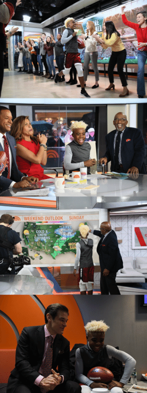 Star of the #NFLNext100 commercial... Bunchie visits the @todayshow! https://t.co/oBmPiovYiM: Star of the #NFLNext100 commercial... Bunchie visits the @todayshow! https://t.co/oBmPiovYiM
