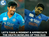 Great death bowling by Bumrah & Nehra.: *Star  Star  LET'S TAKE A MOMENT & APPRECIATE  THE DEATH BOWLING OF THIS  DUO Great death bowling by Bumrah & Nehra.