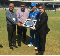 The CCI felicitated MS Dhoni for his immense contribution to Indian cricket as a captain.: Star The CCI felicitated MS Dhoni for his immense contribution to Indian cricket as a captain.