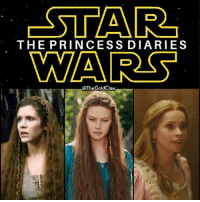 One is taken in by hairy dwarfs, one finds their destiny, and the other dies. ( StarWars CarrieFisher DaisyRidley FelicityJones Princess Leia Rey JynErso ReturnoftheJedi Ophelia SNL TheForceAwakens TheLastJedi RogueOne ThePrincessDiaries): -STAR  THE PRINCESS DIARIES  WARS  @The GoldClaw One is taken in by hairy dwarfs, one finds their destiny, and the other dies. ( StarWars CarrieFisher DaisyRidley FelicityJones Princess Leia Rey JynErso ReturnoftheJedi Ophelia SNL TheForceAwakens TheLastJedi RogueOne ThePrincessDiaries)
