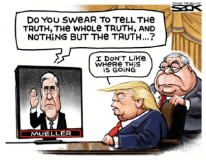 (S) Steve Sack, The Minneapolis Star Tribune  All Trump lies: https://www.politifact.com/personalities/donald-trump/statements/byruling/false/: STAR TRIBUNE  DES  DO You SWEAR TO TELLTHE  TRUTH, THe WHOLE TRUTH, AND  NOTHING BUT THe TRUTH...?  I DON'T Like  WHERE THIS  is GOING  MUELLER (S) Steve Sack, The Minneapolis Star Tribune  All Trump lies: https://www.politifact.com/personalities/donald-trump/statements/byruling/false/