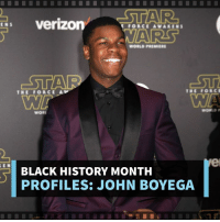 John Boyega rebelled his way into our hearts in Star Wars and we're stoked to see where he goes with Pacific Rim!: STAR  Verizon  FORCE AWAKEN  WORLD PREMIERE  STAR  THE FORCE  THE FORCE  WORLD  WORI  BLACK HISTORY MONTH  PROFILES: JOHN BOYEGA John Boyega rebelled his way into our hearts in Star Wars and we're stoked to see where he goes with Pacific Rim!