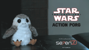 novelty-gift-ideas:Interactive Action Porg Plush: STAR  WARS  ACTION PORG  Another quality product f  se7en novelty-gift-ideas:Interactive Action Porg Plush