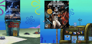Star Wars, Star, and Star Wars Battlefront: STAR WARS  BATTLEFRONT  BATTLEFRONTII  ChuM  BUCKET  LUCASARTS glass stomachs
