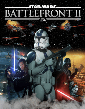 Star Wars, The Game, and Common: STAR WARS  BATTLEFRONT II  DAI  EA I just want to clear up some common misconceptions about BF2 2017. It has no P2W elements since Nov 2017, no lootbox oriented progression system since Mar 2018, all DLC is FREE other than skins which you can buy with in-game earnable credits, and the game has been getting massive support recently.