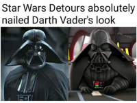 Jedi, Memes, and Sith: Star Wars Detours absolutely  nailed Darth Vader's loolk  @old  mast Detours has the funniest animation style _ _ _ _ _ _ _ _ _ _ _ _ _ _ _ _ _ _ _ starwars darthvader vader rogueone sith jedi lucasfilm empirestrikesback anewhope returnofthejedi