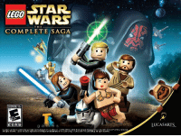 """Lego Star Wars The Complete Saga: STAR  WARS  EGO  THE  COMPLETE SAGA  EVERYONE 10+  Ti  LUCASARTS  ESR B  g a m e s  Lucas Arts and the Lucas Arts loq are registered trademaks of Lucas Im Ltd. 2005-2000 Luca sni EntertainmentCompany Ltd. r Lucas"""" Ltd. and·or TM às lndicated  All nhts rasarvad. LEGO, the LEG0 logo and the Miningure are tradsmarks of The LEGO Group e2005-2009 The LEGO Group. All nghts rasarvad."""