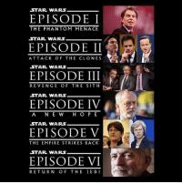 😂😂😂😂: STAR WARS  EPISODE I  THE PHAN TOM MENACE  STAR WARS  EPISODE II  ATTACK OF THE CLONES  STAR WARS  EPISODE III  REVENGE OF THE SITH  STAR WARS  EPISODE IV  A NE W H O P E  STAR WARS  EPISODE V  THE EMPIRE STRIKES BACK  STAR WARS  EPISODE VI  RETURN OF THE JEDI 😂😂😂😂