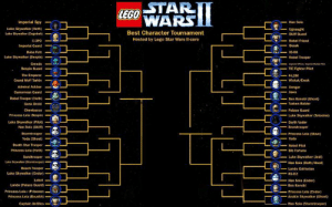 Anakin Skywalker, Darth Vader, and Death Star: STAR  WARS  LEGO  Imperial Spy  Han Solo  Luke Skywalker (Hoth)  Best Character Tournament  Hosted by Lego Star Wars II-core  Luke Skywalker (Dagobah)  Skiff Guard  C-3P0-  -Rebel Friend  imperial Guard  8oba Fett  Luke Skywalker (Bespin)  Rebel Trooper  Greedo  Bespin Guard  The Emperor  Grand Moff Tarkin  Admiral Ackbar  Gamorrean Guard  Rebel Trooper (Hoth)  Gonk Drold  TIE Fighter Pilot  Ben Kenobi (Ghost》  Tusken Ralder  Princess Lela Bespin  Luke Skywalker (Pilot  Luke Skywalker (Tatooine)  Darth Vader  Han Solo (Skiff-  Princess Leia (Slave)  Yoda (Ghost)  Death Star Trooper  Princess Leia (Hoth)  Yoda  Rebel Pilot  Bib Fortuna  Sandtrooper -  Luke Skywalker Jedi)  Han Solo (Hoth/Hood  Lando Calrissian  Beach Trooper  Luke Skywalker (Endor)  Lobot  Lando (Palace Guard)  Princess LeiaバPrisoner)  Princess Lela (Boushh)  Captain Antilles  R2-D2  Han Solo (Endor)  Ben Kenobl  Princess Leia (Endor)  Anakin Skywalker [Ghost)  Han Selo (Stormtrooper) Anakin Skywalker (Ghost) is our final winner of the first round, and here are our 32 remaining contestants. Second round will commence on Monday, 7pm (NZDT) as usual while I consider a redesign/updated design for the second round.