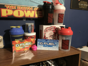 Here's my Gfuel collection, sadly I have no other merch.: STAR  WARS  THE FORCE AWAKENS  THE BIRTTH O  POW  DWI  NERGY THAT  POPS!  EINERGY  POPS  NETWE NIRE  GFUEL  OFL  GFUEL  ENERGY FORMULA  ENERGY FORMULA  ENERGY  CRYST  ERGY  CRYSTALS  OCIETY Here's my Gfuel collection, sadly I have no other merch.